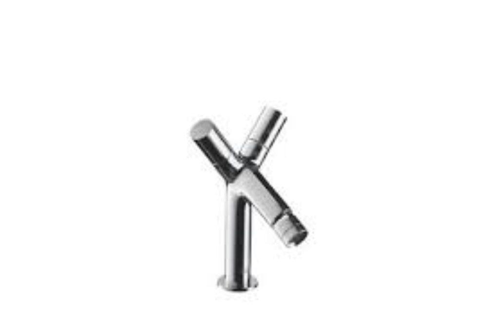 AX Starck bidetová baterie se dvěma kohouty 10230000 - Doprodej koupelnového vybavení / Vodovodní baterie v akci / Bidetové baterie se slevou