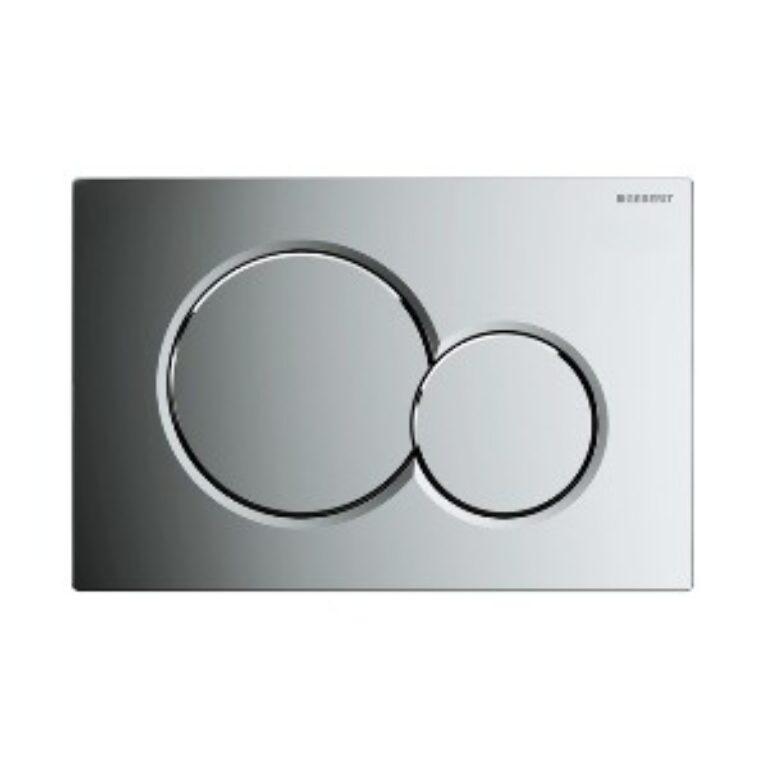 GEB- Ovládací tlačítko Sigma01 (Samba) pochromované lesklé 115.770.21.5 - Sanitární keramika  / WC - toaleta  / Tlačítka k WC / Katalog koupelen