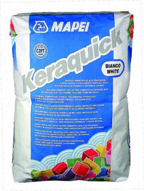 M-Keraquick cementové rychletvrdnoucí lepidlo bílá á23kg - Stavební chemie / Lepidla / Katalog koupelen