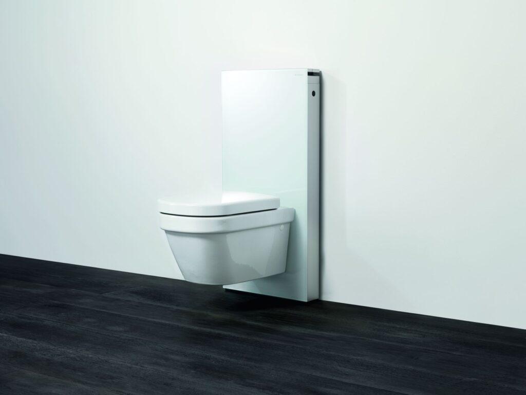 GEB- Monolith sanitární modul pro závěsné WC bílé sklo 131.021.SI.1 - Sanitární keramika  / WC - toaleta  / Katalog koupelen