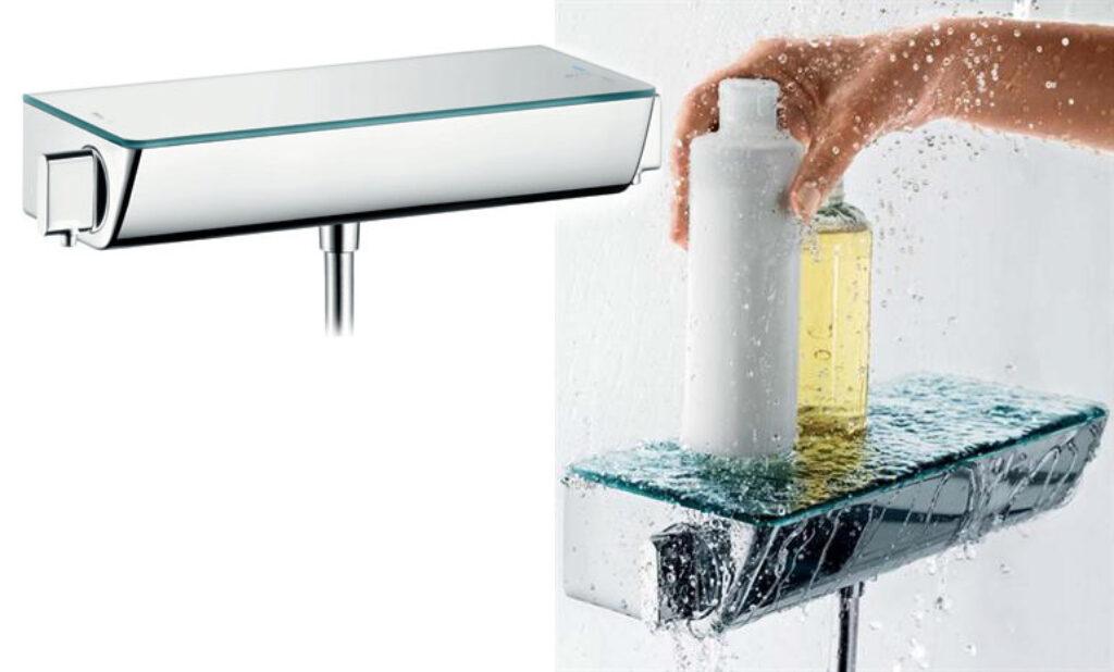 HG Ecostat Select termostatická sprchová baterie na stěnu chrom 13161000 - Vodovodní baterie / Termostatické baterie