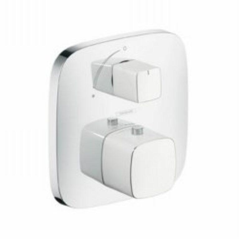 HG PuraVida termostat pod omítku s uzav. a přep.ventilem bílá/chrom 15771400 - Vodovodní baterie / Termostatické baterie / Katalog koupelen