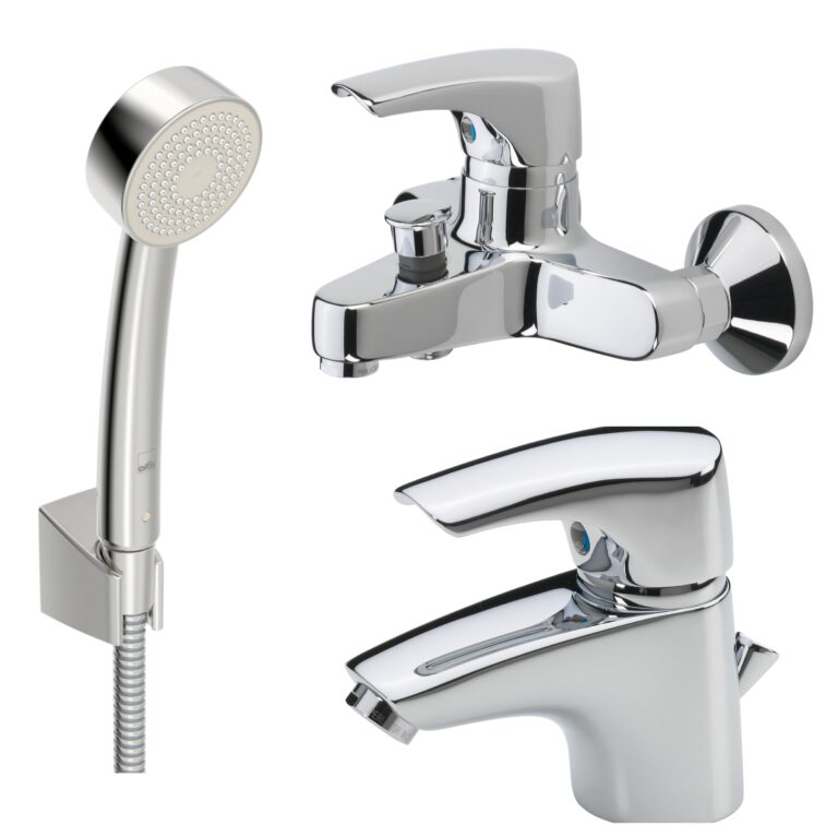 ORAS umyvadlová baterie, sprchová/vanová baterie SAGA a sprchový set APOLLO - Doprodej koupelnového vybavení / Vodovodní baterie / Vanové baterie