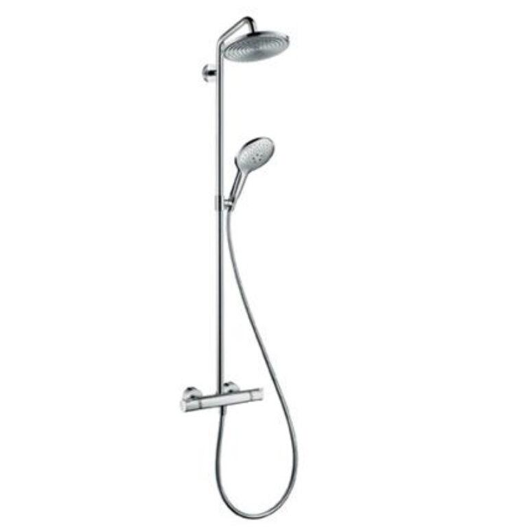 HG Raindance Select Showerpipe 240 chrom 27115000 - Vodovodní baterie / Sprchové sety / Katalog koupelen