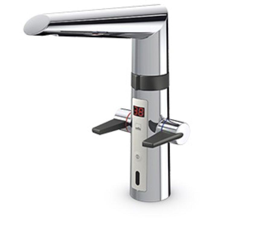 ORAS OPTIMA kuchyňská baterie bezdotyková, napájení zásuvkovým transf. 2722F - Vodovodní baterie / Kuchyňské baterie / Katalog koupelen
