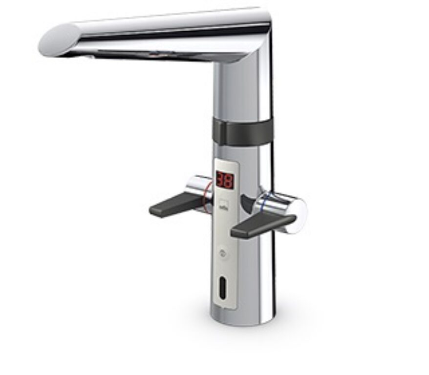 ORAS OPTIMA kuchyňská baterie bezdotyková, napájení zásuvkovým transf. 2727F - Vodovodní baterie / Kuchyňské baterie / Katalog koupelen
