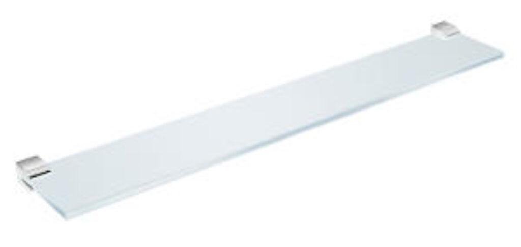 JIKA Pure skleněná polička 600mm vč.držáků chrom 853B.2 I.j. - Koupelnové doplňky / Doplňky do koupelny / Katalog koupelen