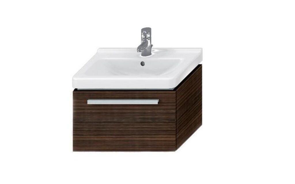JIKA CUBITO skříňka pod umývátko 45cm wenge/wenge 5011.1(ch441) I.j. - Doprodej koupelnového vybavení / Koupelnový nábytek v doprodeji / Skříňky pod umyvadlo ve slevě