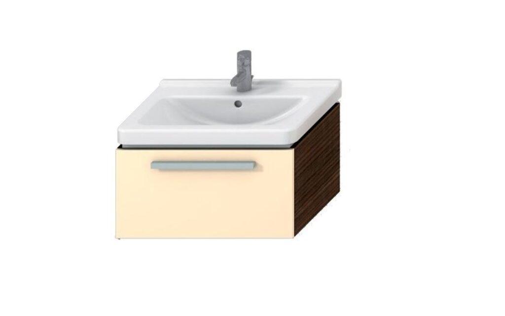 JIKA CUBITO skříňka pod umyvadlo 65cm béžová lesklý lak 5011.4 i (ch442).j - Koupelnový nábytek / Skříňky pod umyvadlo / Katalog koupelen