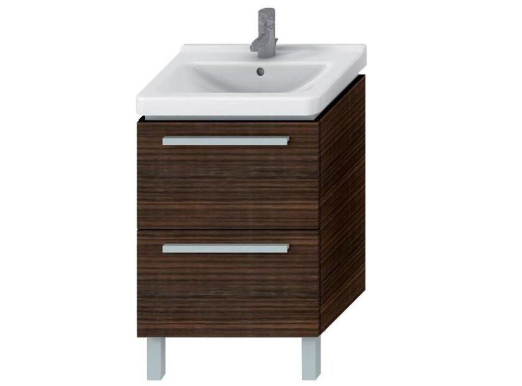 JIKA CUBITO skříňka pod umyvadlo se dvěma zásuvkami wenge 4.5012.8 (ch445) I.j. - Koupelnový nábytek / Skříňky pod umyvadlo / Katalog koupelen
