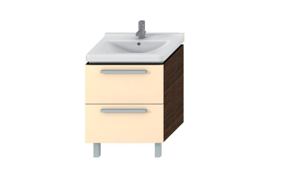 JIKA CUBITO skříňka pod umyvadlo 65cm béžový lesklý lak 4.5012.9.172.449.1 I.j. - Koupelnový nábytek / Skříňky pod umyvadlo