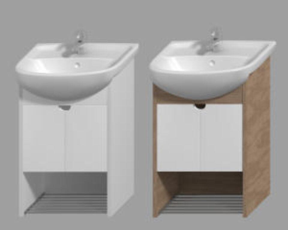 JIKA LYRA PLUS umyvadlová skříňka bílá/ořech 4.5280.1.038.547.1 - Koupelnový nábytek / Skříňky pod umyvadlo / Katalog koupelen