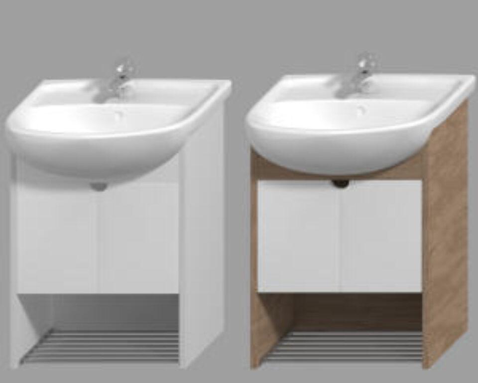 JIKA LYRA PLUS umyvadlová skříňka ořech 4.5281.1.038.547.1 - Doprodej koupelnového vybavení / Koupelnový nábytek v doprodeji / Skříňky pod umyvadlo ve slevě