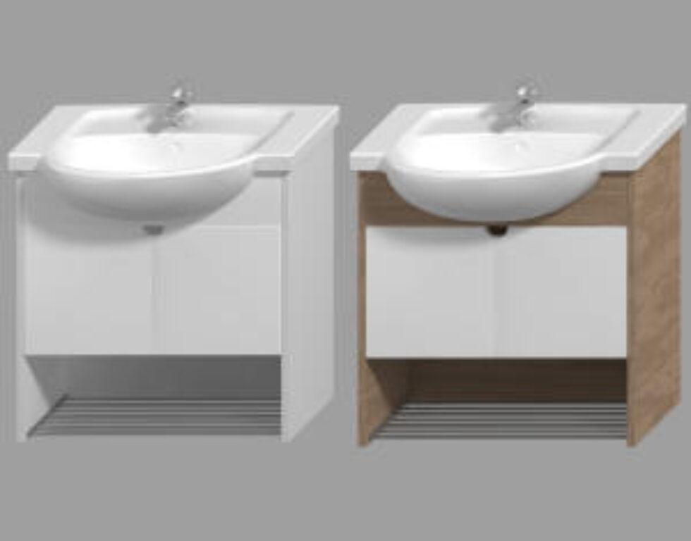 JIKA LYRA PLUS umyvadlová skříňka bílá/bílá 4.5284.1.038.546.1 - Doprodej koupelnového vybavení / Koupelnový nábytek v doprodeji / Skříňky pod umyvadlo ve slevě