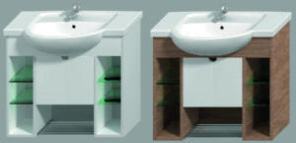 JIKA LYRA PLUS umyvadlová skříňka ořech/bílá 4.5285.1.038.547.1 - Koupelnový nábytek / Skříňky pod umyvadlo