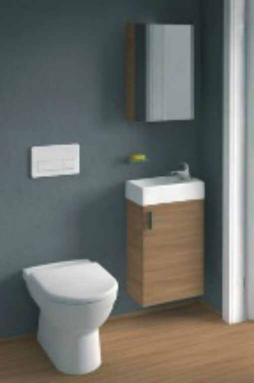 JIKA PETIT sada skříňka, umyvadlo, zrcadlo, osvětlení třešeň 5351.2(ch308) - Koupelnový nábytek / Skříňky pod umyvadlo / Katalog koupelen