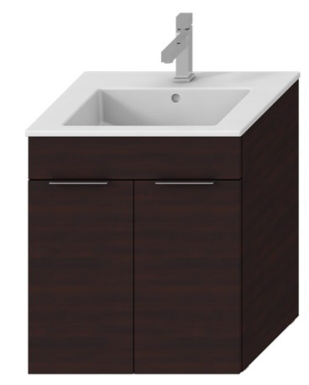 JIKA CUBE skříňka vč.umyvadla, 2 dveře 65cm, tmavý dub 5360.1 (ch302) I.j. - Koupelnový nábytek / Skříňky pod umyvadlo / Katalog koupelen