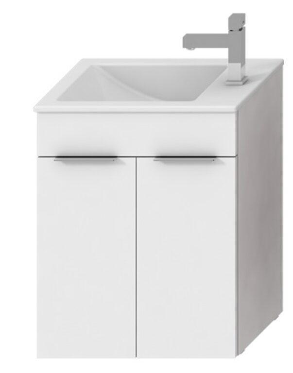 JIKA CUBE skříňka vč. umyvadla 2 dveře 50 cm bílá 5364.1(ch300) I.j. - Koupelnový nábytek / Skříňky pod umyvadlo / Katalog koupelen