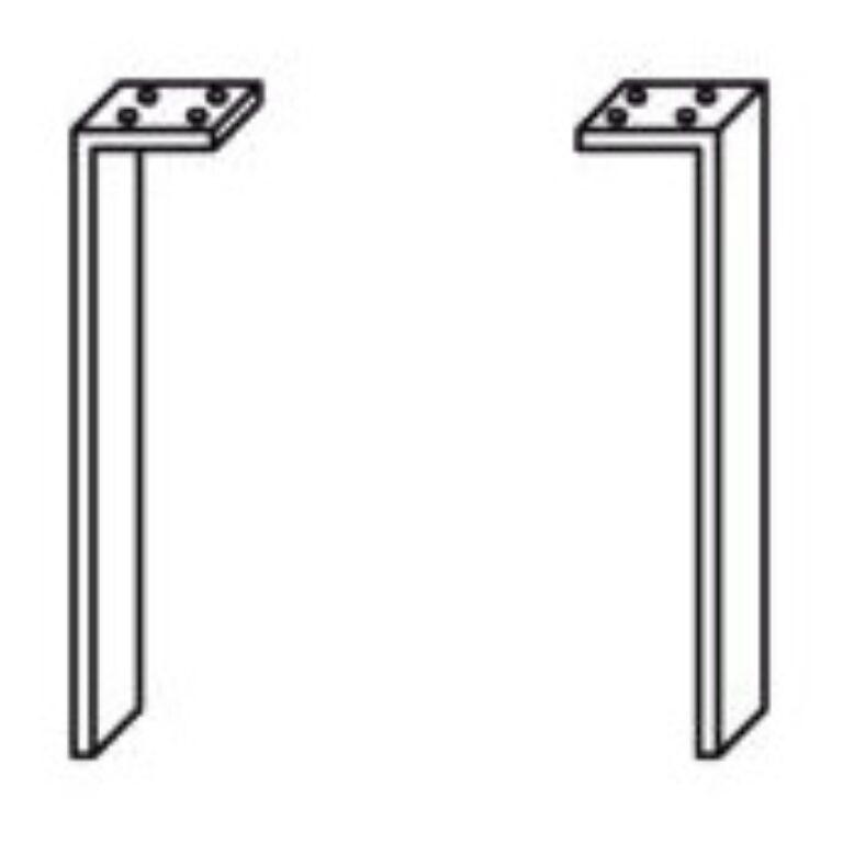JIKA TIGO nohy ke skříňkám pár 5530.1(ch004) I.j. - Koupelnový nábytek / Příslušenství / Katalog koupelen