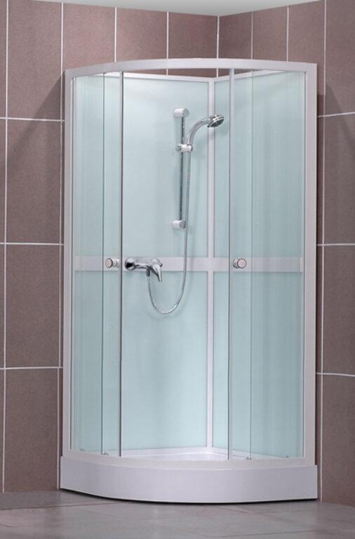 ROL-SIMPLE/900 Bílá/Transp čtvrtkruhový sprchový box (4000249) - Masážní systémy / Masážní boxy / Katalog koupelen