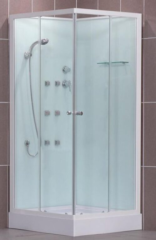 ROL-ARES NEO/900 Bílá/Transp čtvercový masážní box (4000250) - Masážní systémy / Masážní boxy / Katalog koupelen