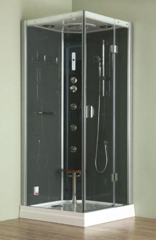 ROL-DLS1150 hydromas. parní box s termostat.bat.+sprch.set Grohe pravý (4G00104) - Masážní systémy / Masážní boxy / Katalog koupelen