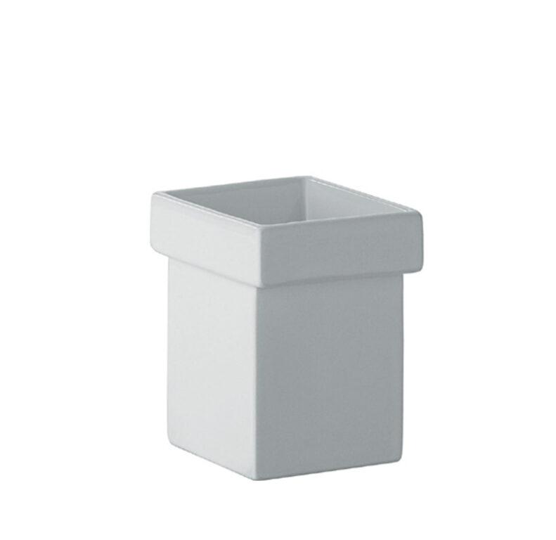 SKUARA keramický pohárek bílý 52801.09 - Doprodej koupelnového vybavení / Koupelnové doplňky v doprodeji / Doplňky k WC