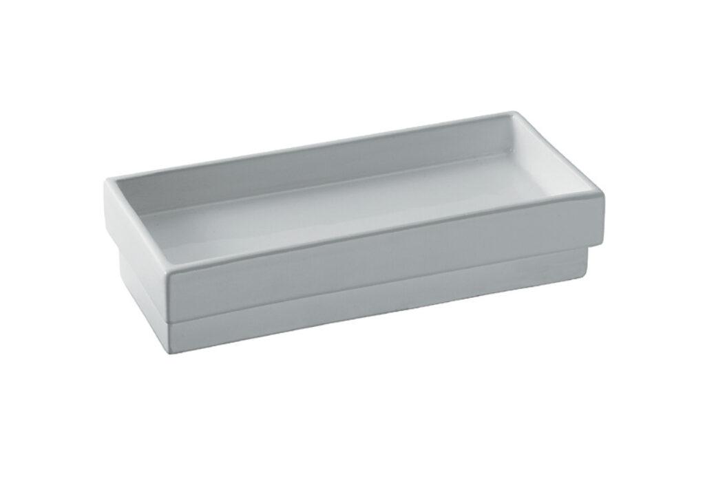 SKUARA keramická miska  na mýdlo bílá 52803.09 - Doprodej koupelnového vybavení / Koupelnové doplňky v doprodeji / Doplňky do koupelny