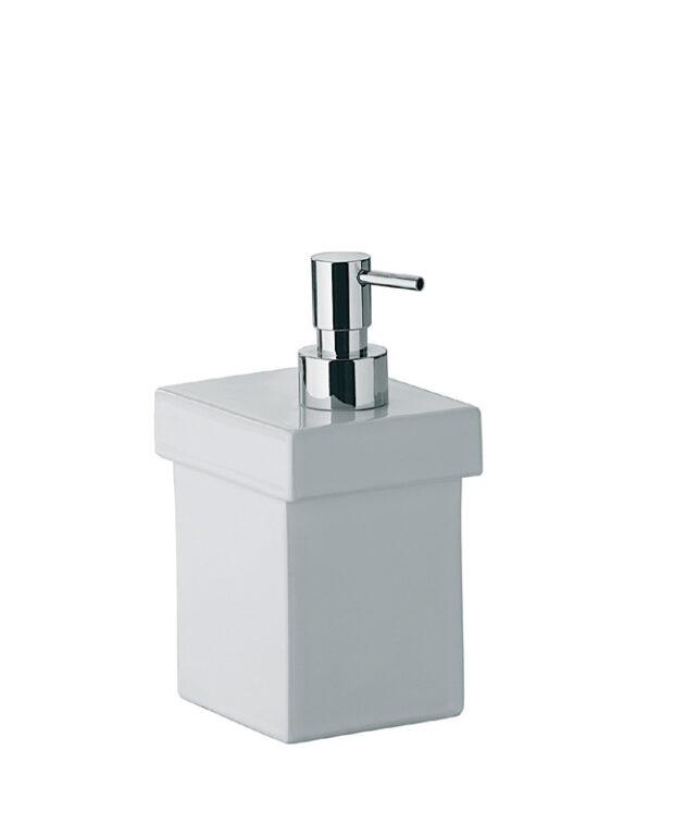 SKUARA keramický dávkovač mýdla bílý 52804.09.29 - Doprodej koupelnového vybavení / Koupelnové doplňky v doprodeji / Doplňky do koupelny
