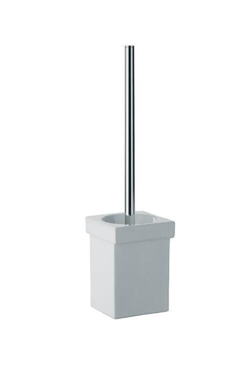 SKUARA keramický držák s WC kartáčem, bílý 52805.09.29 - Doprodej koupelnového vybavení / Koupelnové doplňky v doprodeji / Doplňky do koupelny