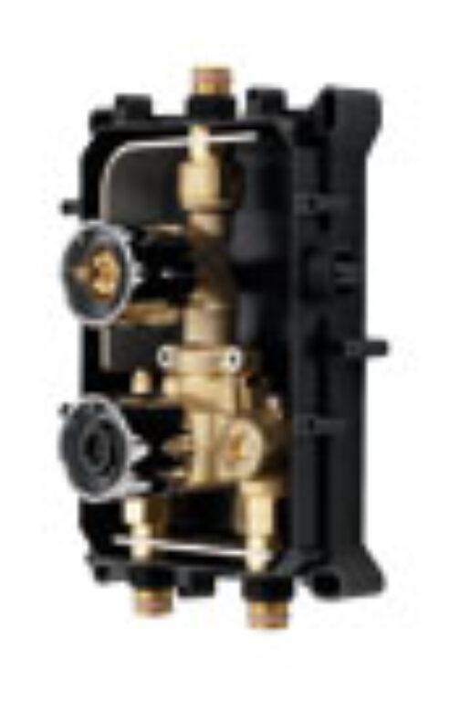 ORAS OPTIMA podomítkové těleso pro sprchovou termostatickou baterii chrom - Doprodej koupelnového vybavení / Vodovodní baterie / Příslušenství k bateriím