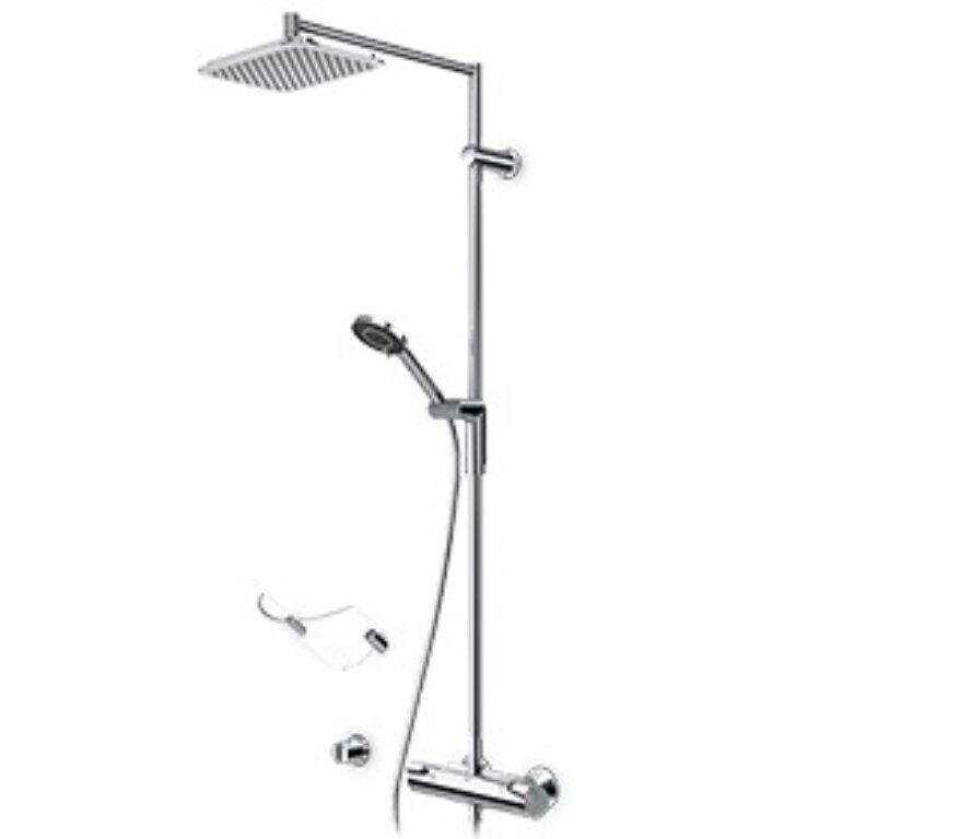 ORAS OPTIMA termostat. vanová a sprchová baterie s výtokem a sprchou 7191U - Vodovodní baterie / Sprchové sety / Katalog koupelen