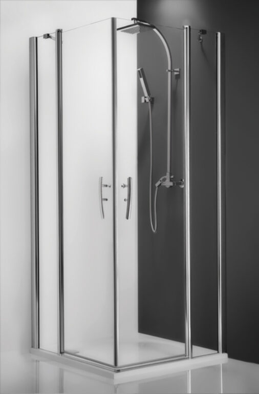 ROL-TDO1/900 Stříbro/Transp sprchové dveře jednokřídlé - Sprchové kouty pro koupelny / Dveře do niky / Katalog koupelen