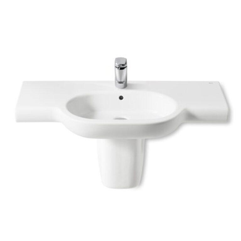 ROCA Meridian umyvadlo 100x46cm bílé s instalační sadou 732724B000 I.j. - Sanitární keramika / Umyvadla do koupelny