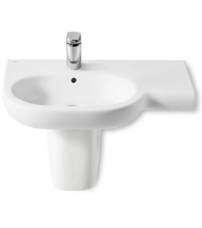 ROCA Meridian umyvadlo 75x46cm levé bílé s instalační sadou 732724L000 I.j. - Sanitární keramika / Umyvadla do koupelny