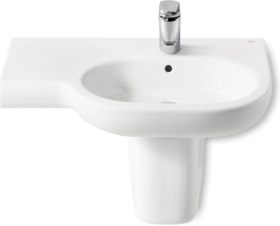 ROCA Meridian umyvadlo 75x46cm pravé bílé s instalační sadou 732724R000 I.j. - Sanitární keramika / Umyvadla do koupelny