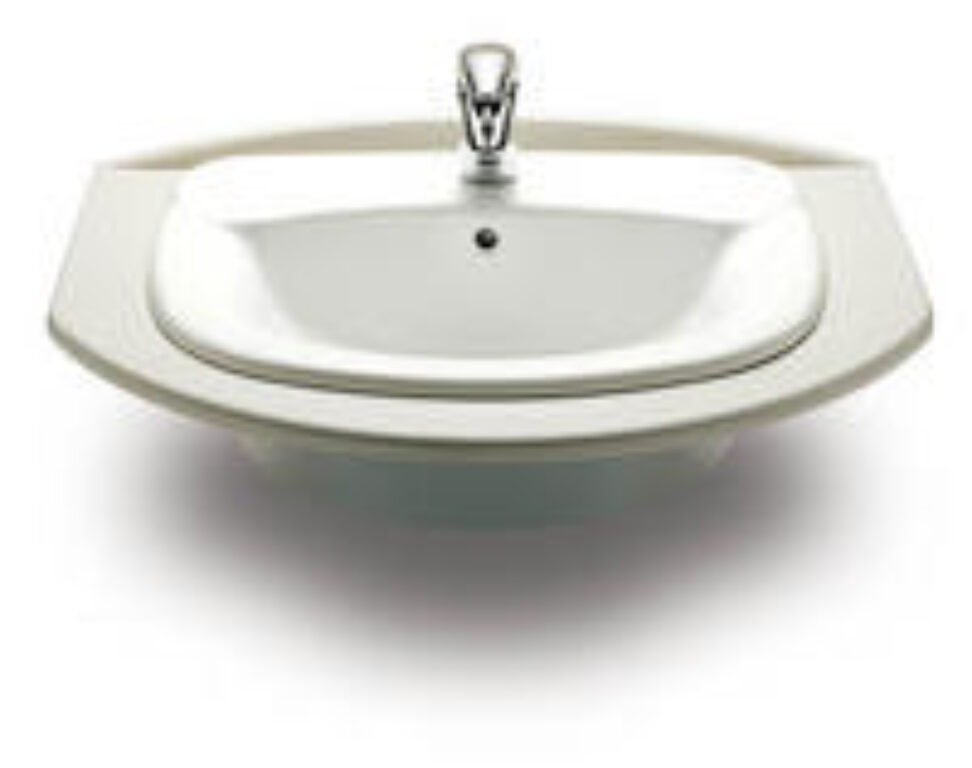 GIRALDA umyv.zápustné bílé 7327465000 I.j. - Doprodej koupelnového vybavení / Sanitární keramika v doprodeji / Umyvadla do koupelny v akci