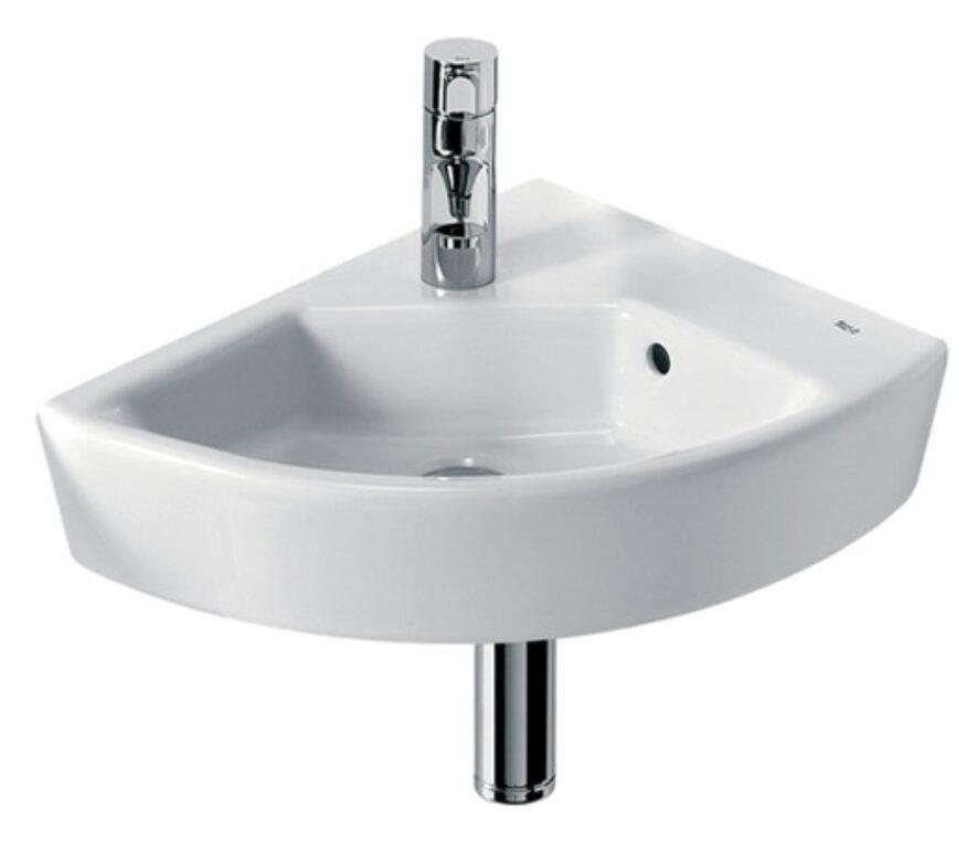 HALL umývátko rohové 35x43cm pravé bílé 7327622000 I.j. - Doprodej koupelnového vybavení / Sanitární keramika v doprodeji / Umývátka