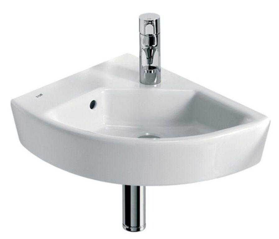 HALL umývátko rohové 35x43cm levé bílé maxiclean 732762300M I.j. - Sanitární keramika  / Umývátka / Katalog koupelen