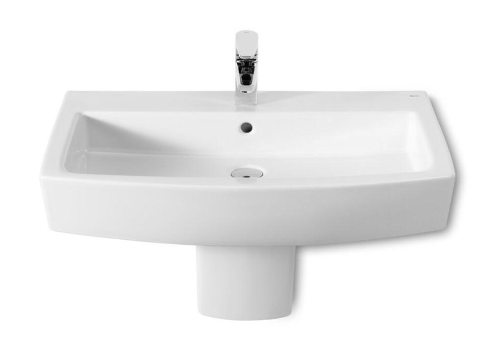 ROCA Hall umyvadlo 75cm s instalační sadou bílé 732762K000 I.j. - Doprodej koupelnového vybavení / Sanitární keramika v doprodeji / Umyvadla do koupelny v akci