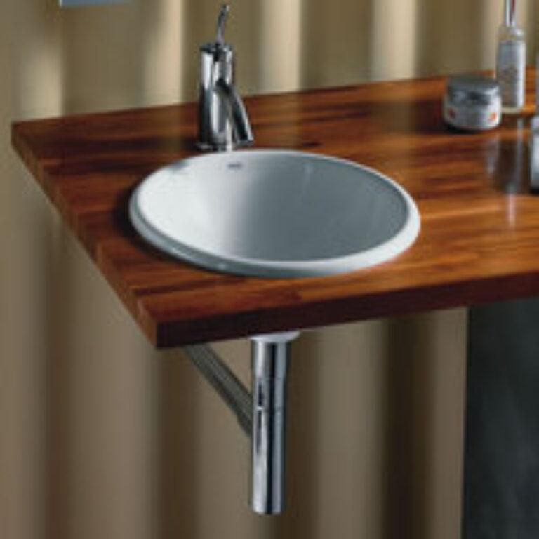 FORO umyv.zápustné shora 40cm bílé 7327872000 I.j. - Doprodej koupelnového vybavení / Sanitární keramika v doprodeji / Umyvadla do koupelny v akci