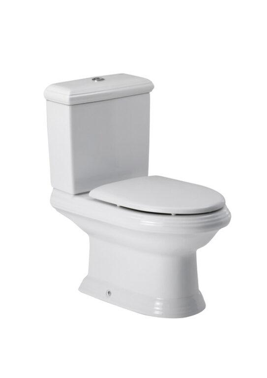ROCA America WC mísa kombi s hlub.splach., odpad Vario bílá 7342497000 l.j. - Sanitární keramika / WC / Toalety / Klozety