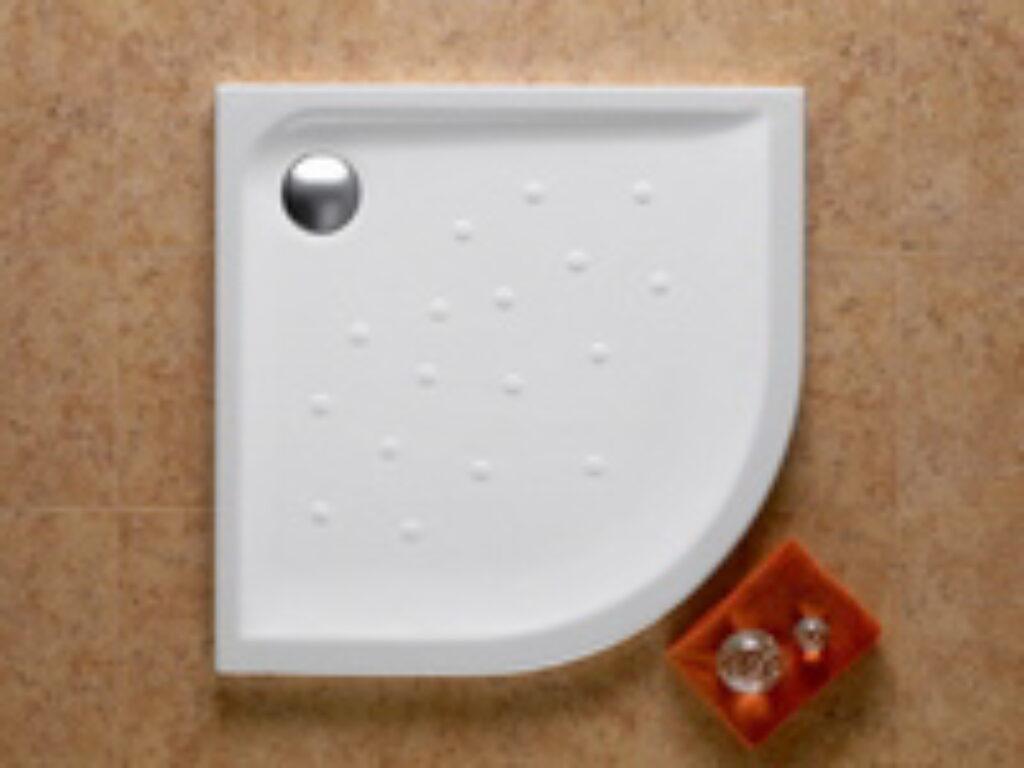 MALTA vanička čtvrtkruh 90/90/4,5 keramická bílá 7373507000 I.j. - Sprchové kouty pro koupelny / Sprchové vaničky do koupelny / Katalog koupelen