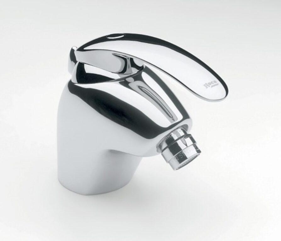 ROCA Amura bidetová stojánková páková baterie s automatickou zátkou - Doprodej koupelnového vybavení / Vodovodní baterie v akci / Bidetové baterie se slevou