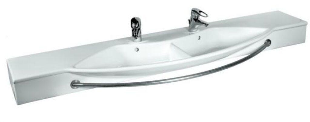 PALACE DUE umyv.do nábytku 180x57cm bílé 1261.6(ch000) I.j. - Doprodej koupelnového vybavení / Sanitární keramika / Umyvadla do koupelny