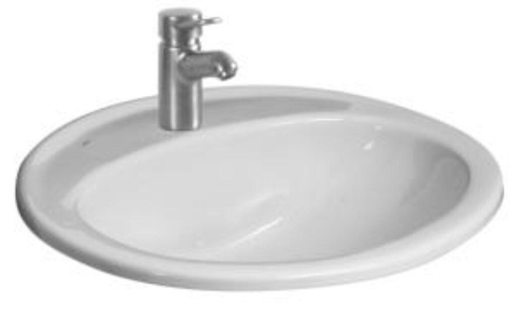 IBON umyv. zápustné 52cm bílé 1301.0(ch104) I.j. - Doprodej koupelnového vybavení / Sanitární keramika / Umyvadla do koupelny