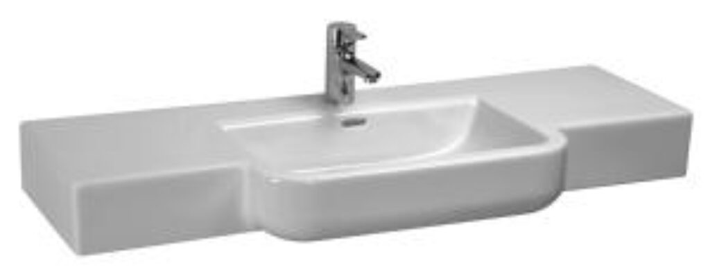 FORM umyv.do nábytku 120x48cm bílé 1367.5(ch104) I.j. - Doprodej koupelnového vybavení / Sanitární keramika v doprodeji / Umyvadla do koupelny v akci