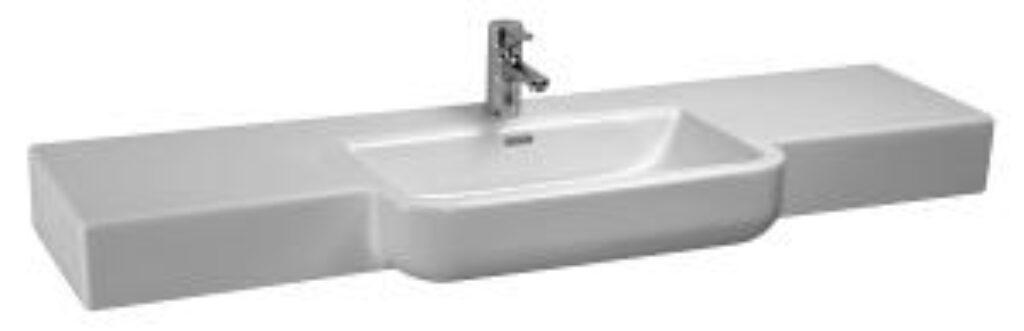 FORM umyv.do nábytku 150x48cm bílé 1367.6(ch104) I.j. - Sanitární keramika  / Umyvadla do koupelny / Katalog koupelen