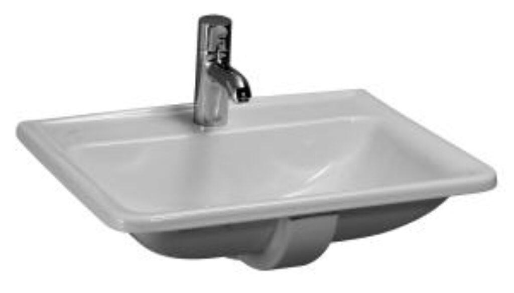 PRO-A umyv.zápustné 56x45cm bílé 1396.1 (ch104) I.j. - Doprodej koupelnového vybavení / Sanitární keramika v doprodeji / Umyvadla do koupelny v akci