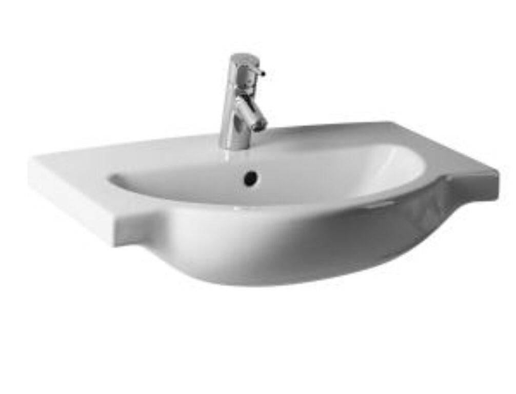 MIO umyv.do nábytku 67x47cm bílé 1471.5(ch104) I.j. - Doprodej koupelnového vybavení / Sanitární keramika v doprodeji / Umyvadla do koupelny v akci